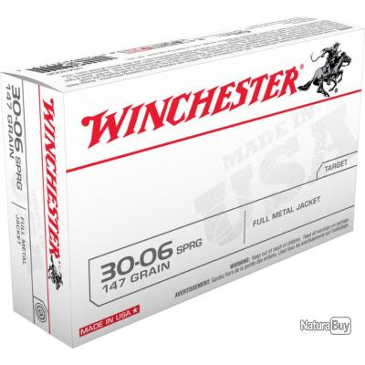 MUNITIONS WINCHESTER FULL METAL JACKET CAL 30-06Spr 147GR