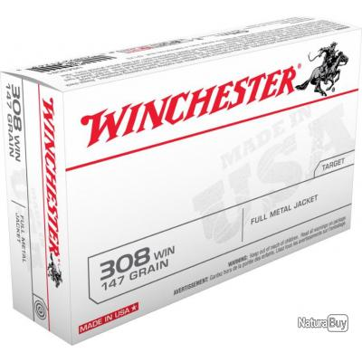 MUNITIONS WINCHESTER FULL METAL JACKET CAL 308WIN 147GR