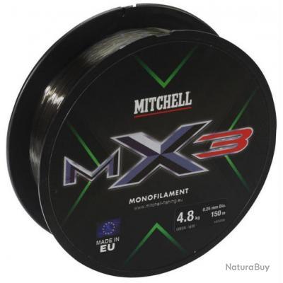 Nylon Mitchell MX3 Low vis Vert - 150m - 16/100 - 2,1 kg - Enchère à 1€