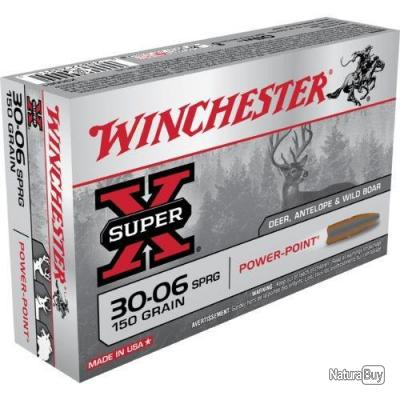 20 MUNITIONS WINCHESTER 30-06 150 GRAINS POWER POINT
