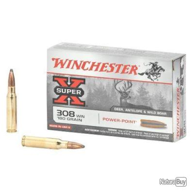 PROMO 20 Munitions WINCHESTER cal 308 Win 150gr Power Point