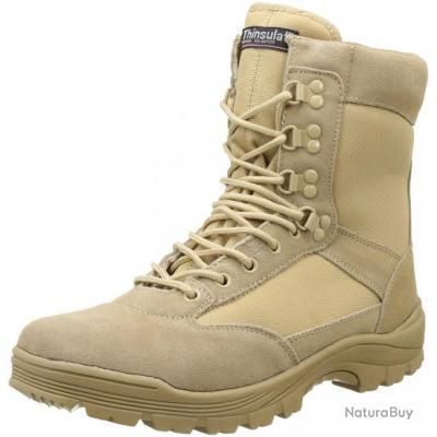 Chaussures Tactical Cordura Tan zip