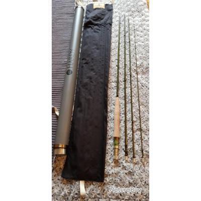 Canne mouche Hardy Zephrus sintrix 440 10 pieds soie de 5 comme neuve.