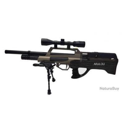 Carabine à Air Pré Comprimé Evanix Max Calibre 5.5mm + Lunette + Bipied + Mallette + Plombs