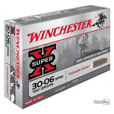 30-06 POWER POINT 150gr Winchester Boite de 20