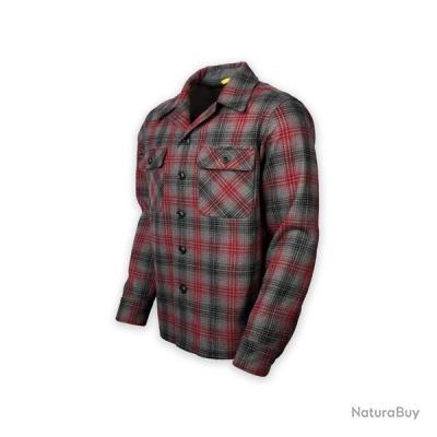 Prometheus Design Werx DRB Woodsman Shirt Merino Red Black Gray Plaid