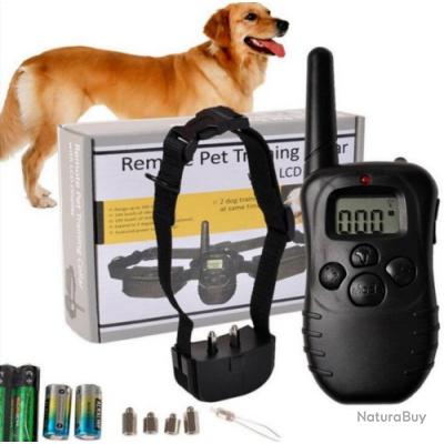 Collier de dressage electrique chock pour chien 300M étanche Rechargeable - SANS PRIX DE RESERVE  !!