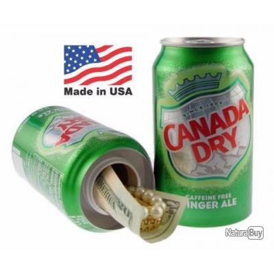 Canette coffre fort Canada Dry - ENCHERES NOEL !