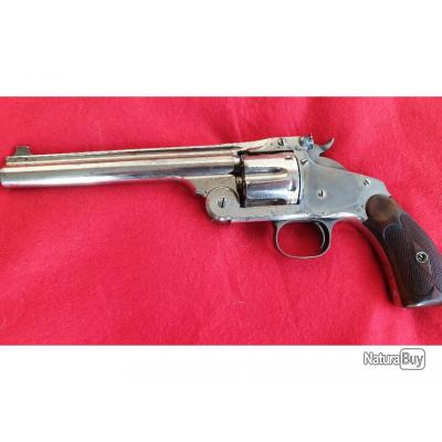 Revolver Smith & Wesson N°3 Single Action New model, visée Target , calibre 44 Russian