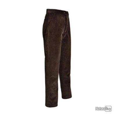 Pantalon de chasse Percussion Velours Country Marron