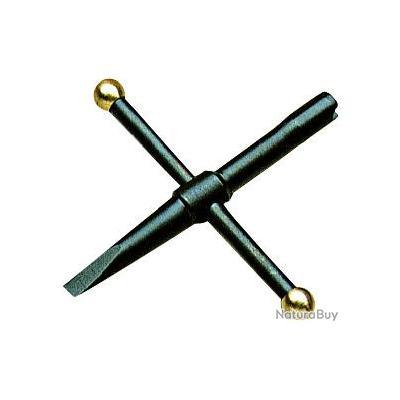 Clé cruciforme 5 mm avec tournevis spécial revolver