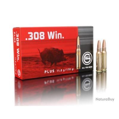 Munitions GECO Cal. 308 Win. Plus 11 gr 170G PAR 20