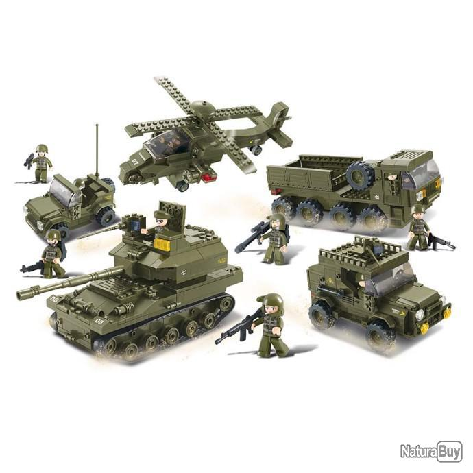 JEU DE CONSTRUCTION COMPATIBLE LEGO SLUBAN ARMY CHAR MOYEN ALLIED MILITAIRE ARME