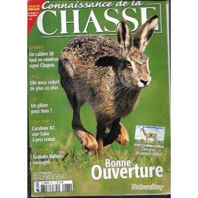connaissance de la chasse. n°437 , ouverture 2012-2013, calibre 28 chapuis, caille, cerf, biélorussi