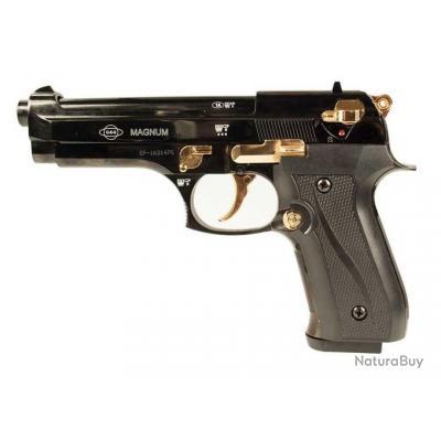 NOUVEAU! Pistolet à Blanc EKOL FIRAT MAGNUM Edition Spéciale Noir/Or 9mm 16 coups + Malette