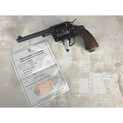Colt Mle 1903 Army Tardif canon .357 et son certificat de classement en D2