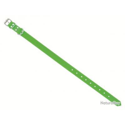 Collier Fluo TPU pour Chien avec plaque | 1 Boucle | Coloris vert fluo | 60 x 2,5 cm