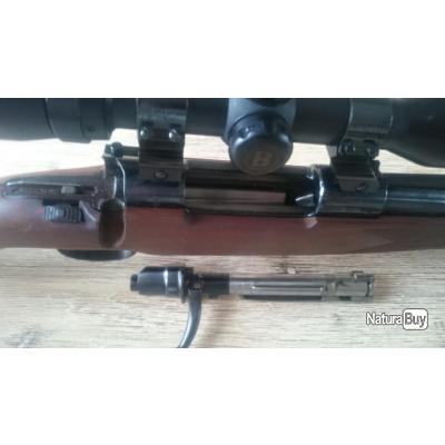 Carabine à verrou 7x64 Luger avec lunette de battue Bushnell