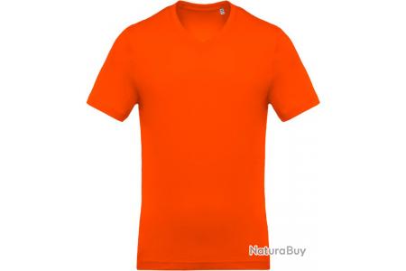 LOT DE 3 T Shirt Homme 100% Coton ORANGE TAILLE L K37007