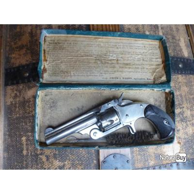 beau revolver Smith & Wesson single action (SA) calibre .32 S&W canon 3 pouces en boîte d'origine .