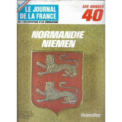 les années 40 le journal de la france lot de 3 revues , compagnons de france , normandie niemen