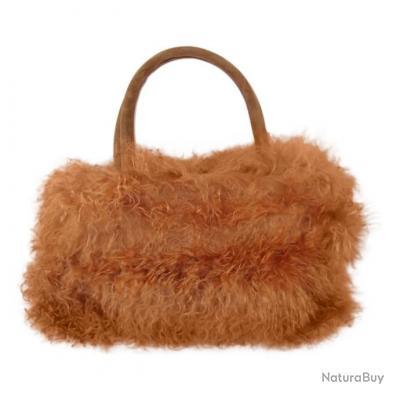 sac à main Mouton du Tibet - Camel