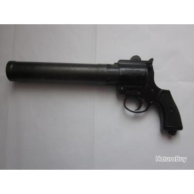 WW2 Britanique - Pistolet lance fusée Webley & Scott modèle M complet.