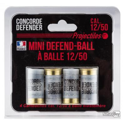 Cartouches Mini Defend-Ball cal. 12/50 à balle Elastomere X4