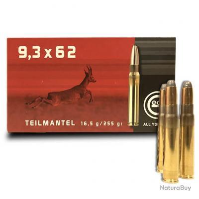 Balles Geco Cal. 9.3x62 Teilmantel Demi Blindée Soft Point Bullet