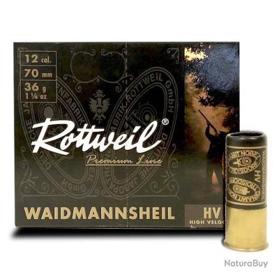 Cartouche Rottweil Waidmannsheil HV calibre 12