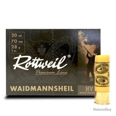 Cartouche Rottweil Waidmannsheil HV calibre 20