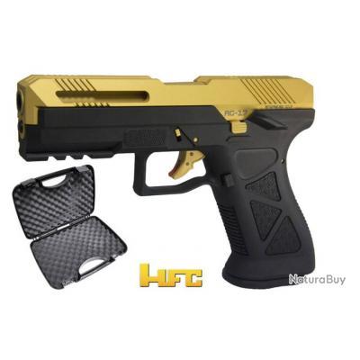 G17 Custom Gaz Blowback Noir & Or w/ Malette (HFC)
