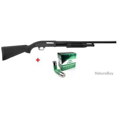 Fusil à Pompe Maverick M88 cal.12/76 + 10 Balles Slug Catégorie C à 5 Coups PAIEMENT 4X SANS FRAIS