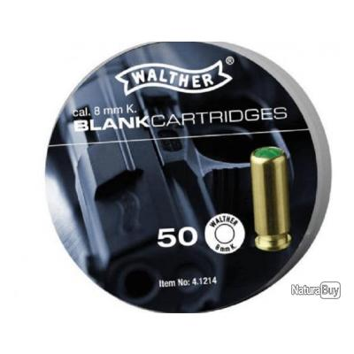 Munitions 8mm PAK Walther x50