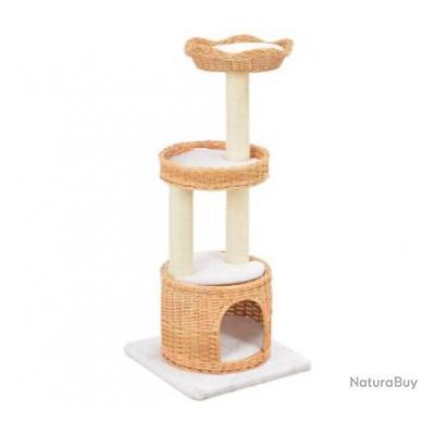 Arbre à chat avec griffoir en sisal Naturel Bois de saule 83697