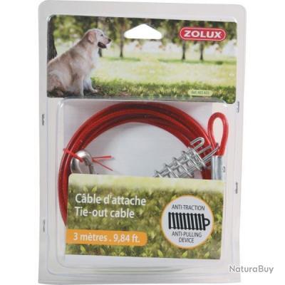 Câble d'attache Zolux pour chiens - 6 M/ Référence ZOL-403406 neuf++++++