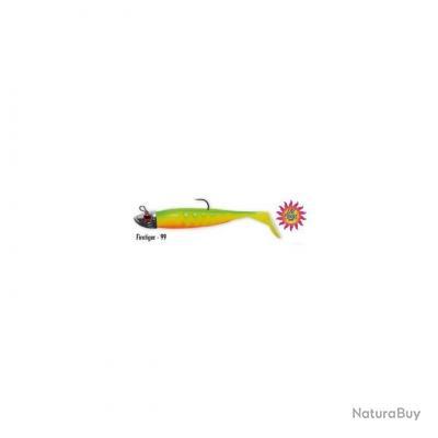 Leurre souple DELALANDE Neo shad 9cm 10g - Fire tiger n°99  (lot de 3 piéces)