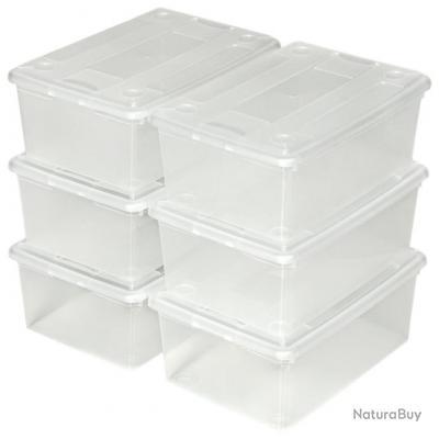 48 boîtes de rangement plastique  ( chaussures, vétements ,jouets, etc....)  neuf  +++++++++
