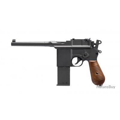 ( Chargeur 26 coups)Réplique pistolet GNB à gaz C96 noir full metal 1,3J