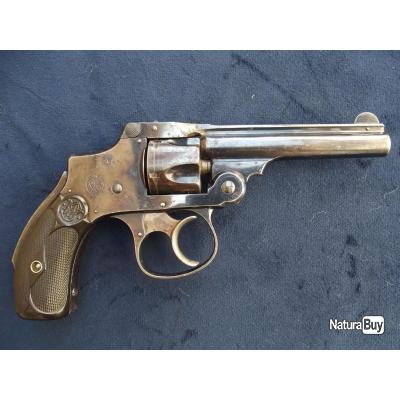 Revolver Smith & Wesson safety 2eme modéle calibre 32 (lemon squeezer) bleu d'origine