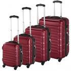 Set de 4 Valises Trolley - ABS - 4 Roues Pivotantes à 360° rouge bordeaux NEUF(coloris selon arrivag