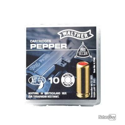 Munitions 9mm PAK Walther poivre x10