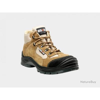 Chaussures de sécurité hautes type randonnée HEROCK Cross Beige