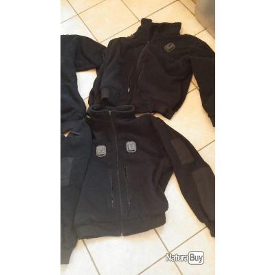 2 GILETS POLAIRE DE LA POLICE ECOSSAISE GRAND FROID 100% POLYESTER