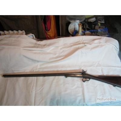 Fusil à broche calibre 16 St Etienne N°21. Très bon état, pas de jeu dans les systèmes d'ouvertures