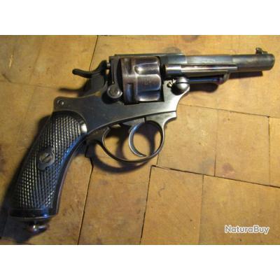 revolver 1874 officier Chamelot Delvigne apte tir barillet canon miroir cal11mm 1873 noir d'origine