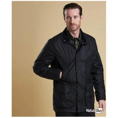 Veste BARBOUR HEREFORD WAX JACKET NAVY