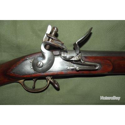 Fusil silex brown bess de type short land patern avec platine a chien col de cygne