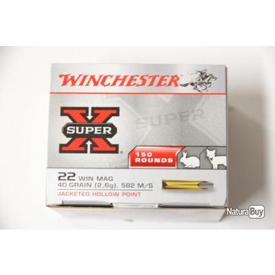 150 Balles Winchester 22 Magnum HP 40grs