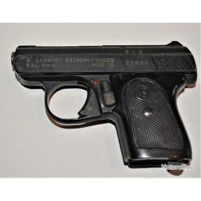 PISTOLETH. SCHMIDT OSTHEIM / ROEHN  MOL 15 calibre 8 mm